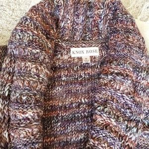 KNOX ROSE duster-style/knee length sweater-SZ M